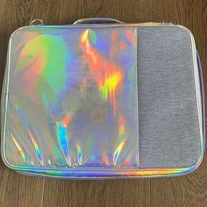 Holographic Typo laptop case